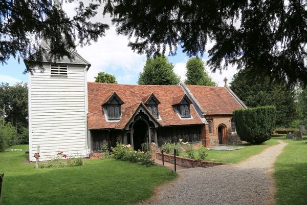 The Church of St Andrew, Greensted-juxta-Ongar the oldest wooden building on Europe