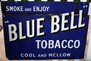 Blue Bell Tobacco vintage advertising poster