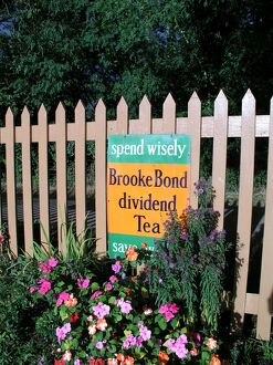 Brooke Bond sign at Crowcombe Heathfield station