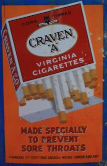 Craven A cigarettes vintage advertising poster