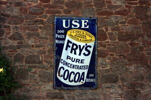 Fry's cocoa vintage advertising poster