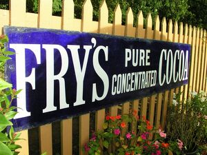 Fry's sign at Crowcombe Heathfield station, Somerset
