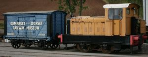 Goods train at Washford station, Somerset