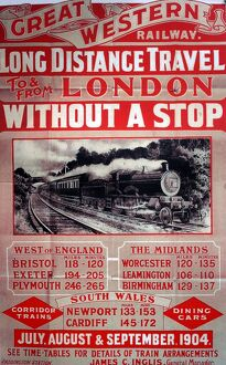 Great Western Railway vintage advertising poster