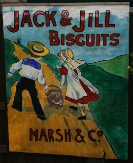 Jack and Jill Biscuits vintage advertising poster