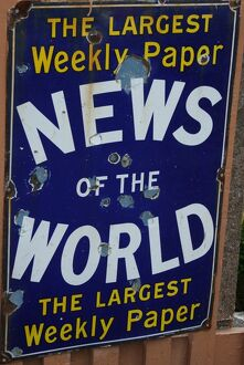 News of the World vintage advertising poster
