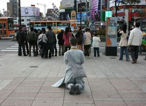 Praying in Taipei, Ximen, Taipei City, Taiwan