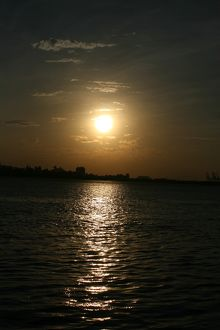 Sunset at Danshui, Taipei County, Taiwan - view towards Bali