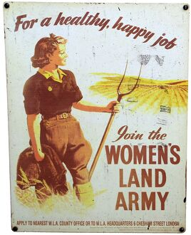 Women's land army vintage recruitment poster