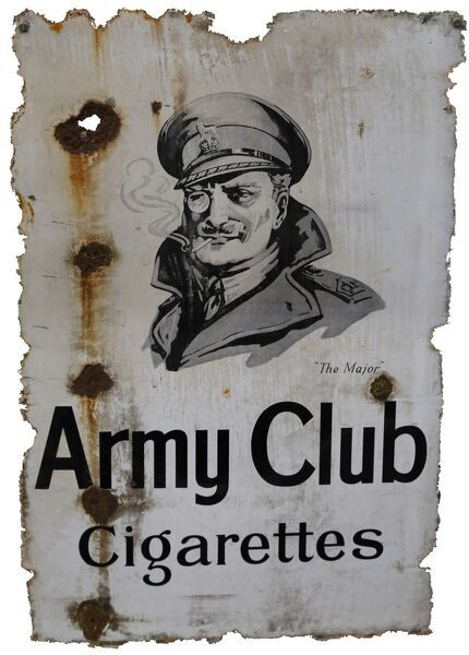 Army Club brand advertising poster