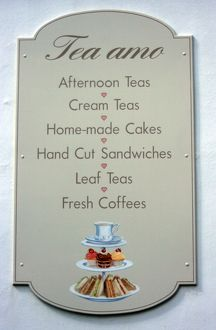 Afternoon tea sign