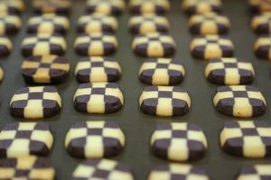 Chocolate biscuits at the Taipei Bakery Show 2014