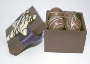 Easter eggs in a chocolate box